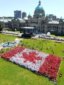 Libing canadian flag in victoria on Canada Day 2009